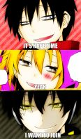 Shintaro, Momo and Kuroha Dat face by UchihanoDarkest