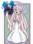 Lillie and cosmog by Futakuchi-0nna