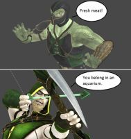 Injustice: Reptile vs Green Arrow by xXTrettaXx