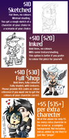 UPDATED! Commissions starting at $10 by GazTV-inc