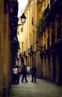 Street in Barri Gotic (Barcelona) by Ferevel