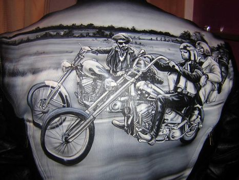 Easy Rider Leather Jacket by iPaintAirbrushStudio