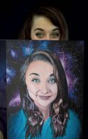 Painting of Myself by adoreluna