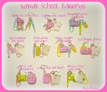 Kawaii School Earrings by Bojo-Bijoux