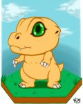 Agumon chibi by WolveForger