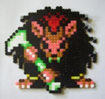HAMA bead Scythe or Death Rat by HareTrinity