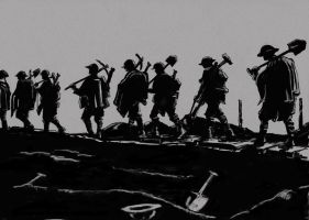 British infantry move up the line WW1 by timcatherall