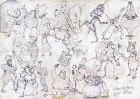 alice in wonderland characters by cadur