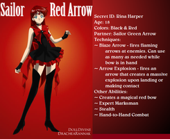+Young Justice Scouts+ Sailor Red Arrow by phoenixtsukino