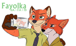 Nick Wilde and Robin Hood - Selfie by Fayolka