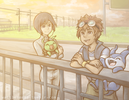 digimon 02: always this walkway by KatYoukai