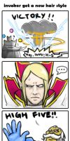 0464: invoker new hair style by Agito666