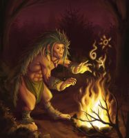 Prehistoric Gnome by DrStein