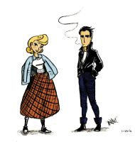 Greaser Pair in Color by Concetta20