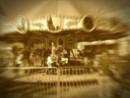 Carousel in Sepia by ThePrettyMachine