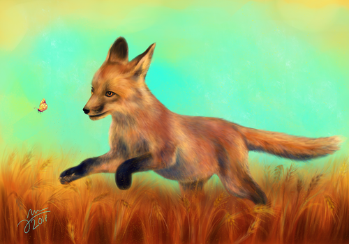 Happy Fox by Arkel666