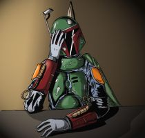 Boba Fett tired colors by ZethKeeper