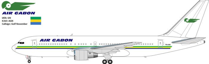Air Gabon B767-200 by JetStream-61