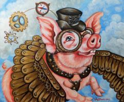 When pigs fly by oliecannoligriffard