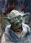 Yoda Star Wars Sketch Card by Stungeon