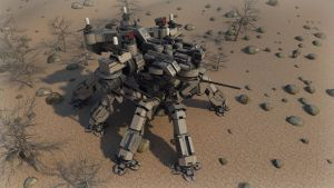 Desert Spider mecha render 2 by Avitus12