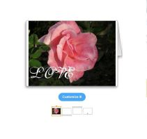LOVE pink rose card by Xarti