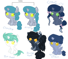 downpour X neon ignition foals! (open) by Deep-Fried-Love
