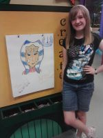 Quick Drawing at Crayola Store by JediSkygirl