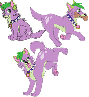 Some Spike Doggies by Toby-Wolfkat