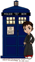 Dr Who + TARDIS Chibis Colour by SilverXenomorph