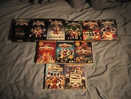 Power Rangers DVD Collection by Megamink1997