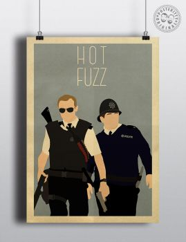 Hot Fuzz Minimalist Movie Poster Posteritty by Posteritty