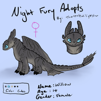 Night Fury Adopt #5 - CLOSED by therealtwilightstar