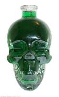 Glass Skull 3 - green by Fire-Fuel