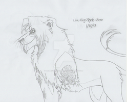 Lion King Style - Zero (WIP) by AnimeFan4Eternity23