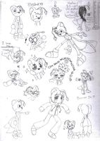 TailsDoll sketches by DarkCream