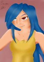 Blue Haired Woman by Saradema
