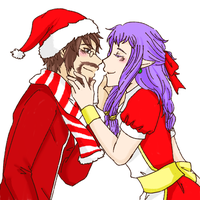 Xmas Comm - Mr and Mrs Santa by AwesomeWeAre