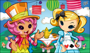 Wacky Hatter and Alice in Lalaloopsyland by thweatted