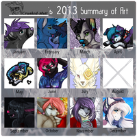 Cranked-Mutt's 2013 Art Summary. by Kuranku