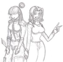 elly and gaia by ShoStyle