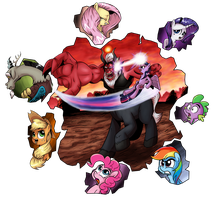 Collab: Battle that shook Equestria by saturdaymorningproj