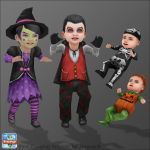 Sims Freeplay - Halloween Dressups by Nef-JessB