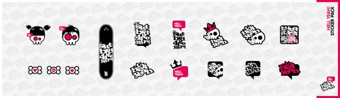 Hell Yeah - Sticker Pack by Defect303