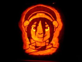 Toph Pumpkin by 1froggy13