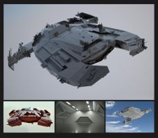 Spaceship 1 sketch model by chaderr