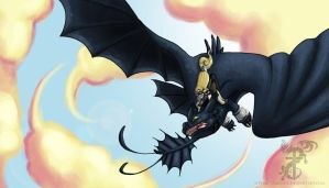 HTTYD WP Ireth+Vespera by yamilink