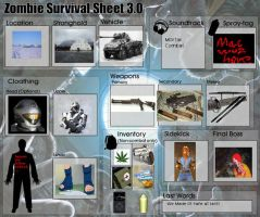 My Zombie Survival Sheet by MacArther