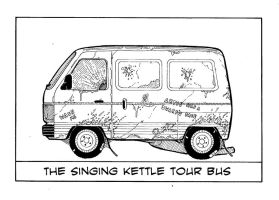 The Singing Kettle Tour Bus by TomRFoster