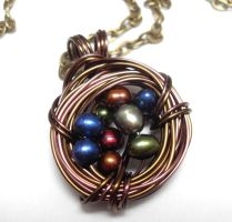 Custom Grandmother's Nest Necklace by sojourncuriosities